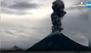 Камери записаха изригване на вулкан в Мексико