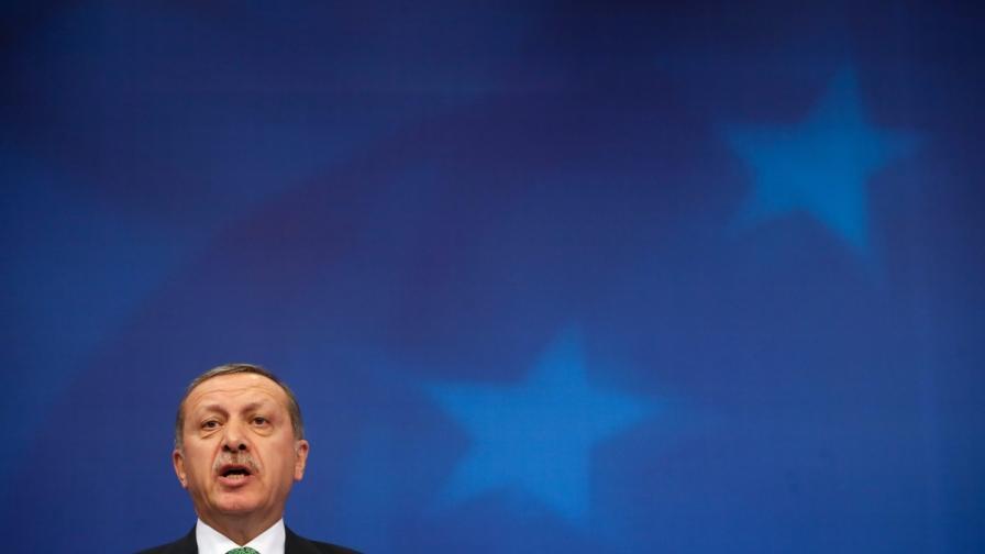 Рвджеп Тайип Ердоган в Брюксел