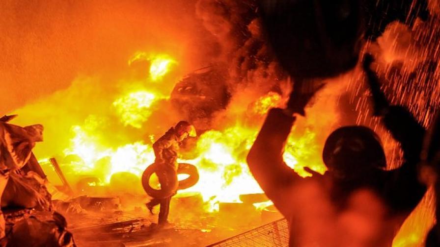 Сблъсъци в центъра на Киев