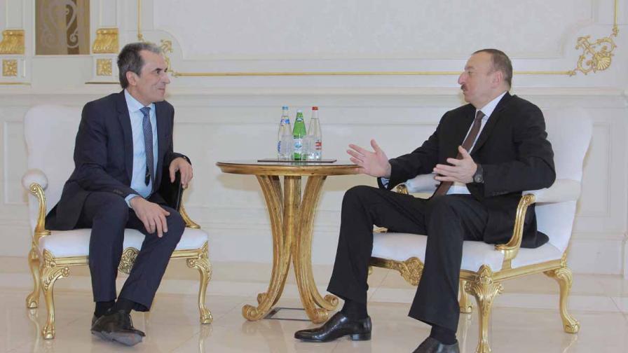 Пламен Орешарски и президентът Илхам Алиев
