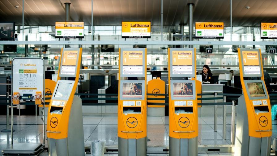 Стачка на летищата в Германия обърква трафика в Европа