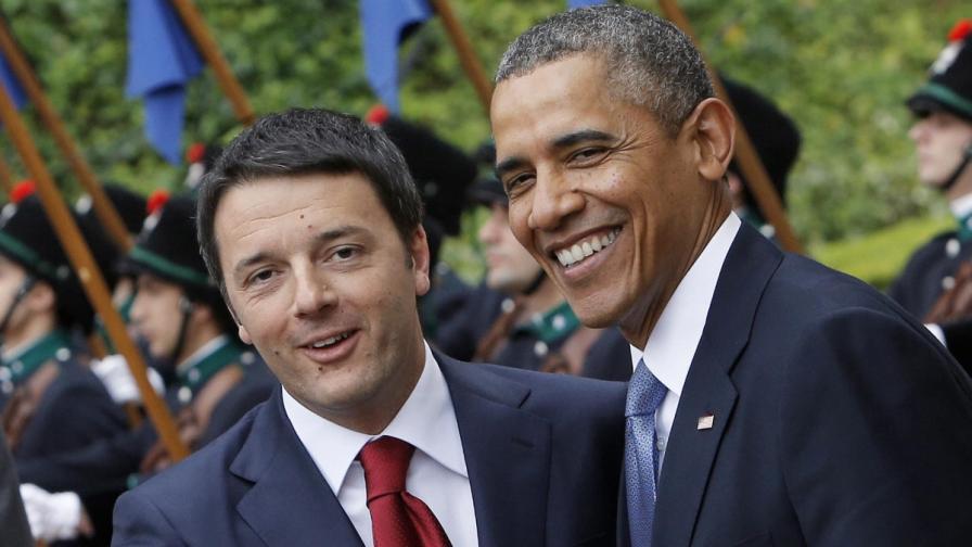 Матео Ренци и Барак Обама