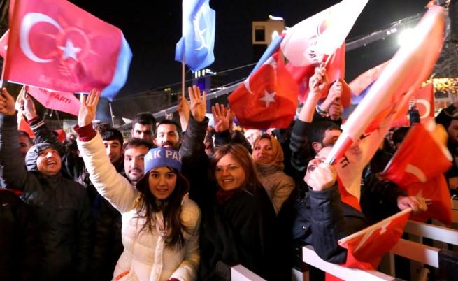 Партията на Реджеп Тайип Ердоган спечели изборите в Турция
