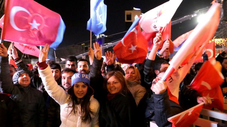 Ердоган спечели изборите в Турция
