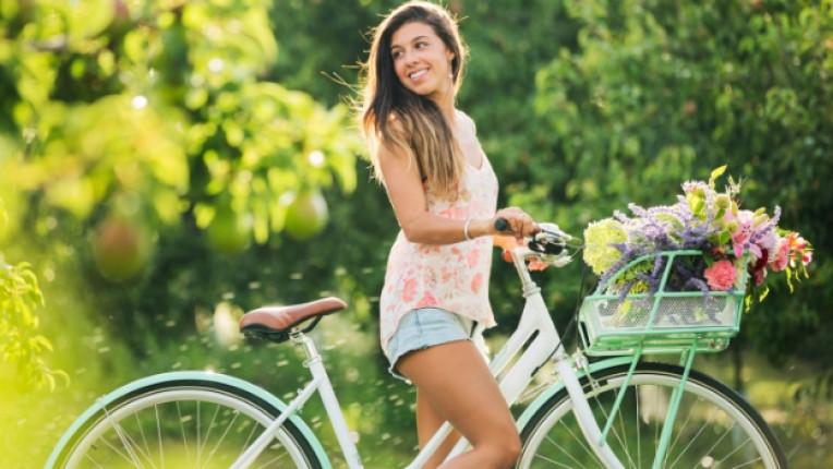колело велосипед жена природа