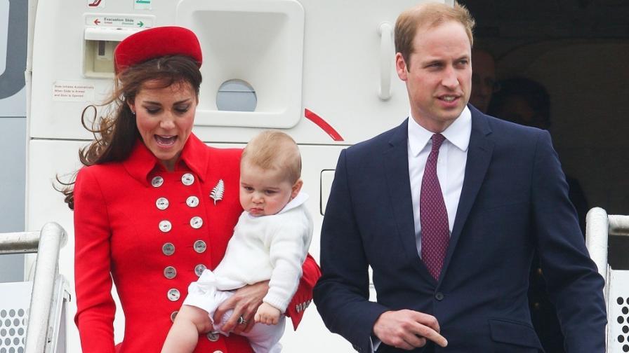 Принц Джордж е на първото си официално пътуване