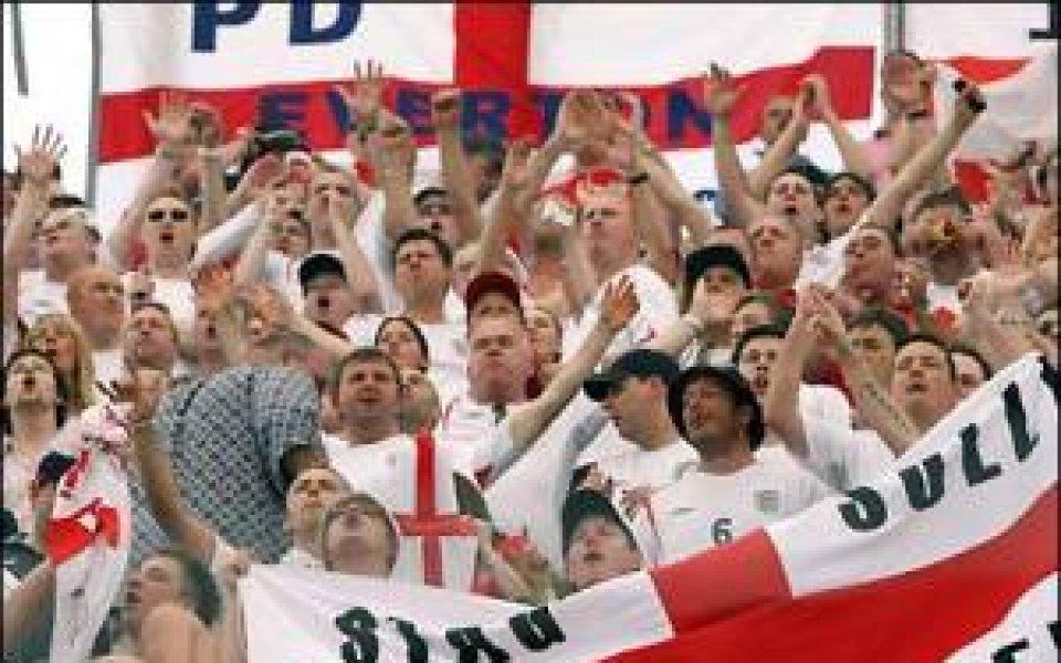 Английските фенове похвалени от УЕФА