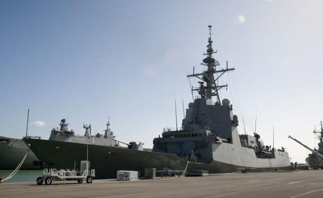 Американски и френски военни кораби в Черно море