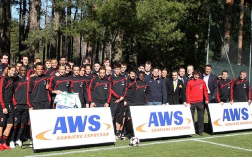 Владо Николов на гости на Роналдиньо, Гатузо, Неста и всички от Милан
