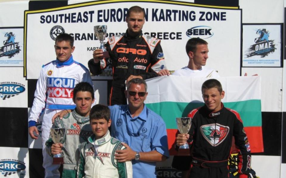 България – отборен шампион в европейското по картинг