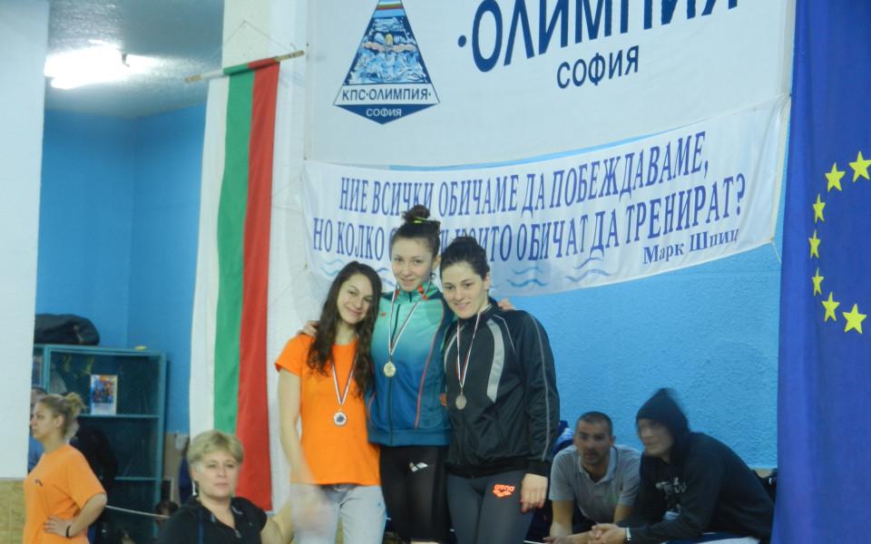 Лидия Иванова с четири медала от държавното първенство по плуване
