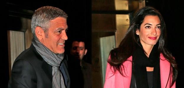 Джордж Клуни и настоящата му годеница Амал Аламудин