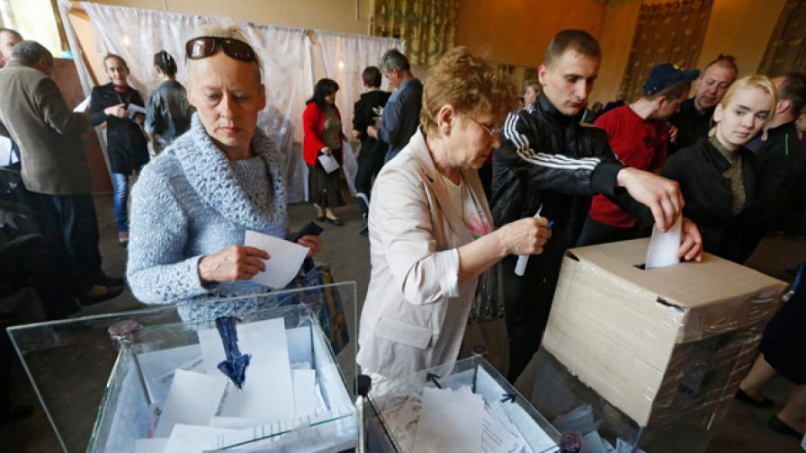 Гласуването на референдума в Източна Украйна приключи