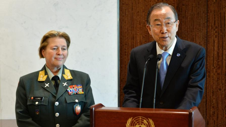 """Норвежка стана първата жена командваща """"сини каски"""" на ООН"""