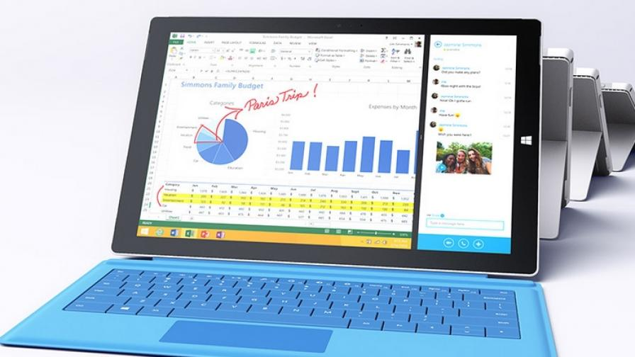 """""""Майкрософт"""" показа новия Surface – 12-инчов е"""