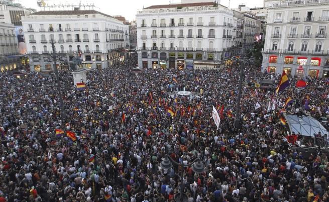 Хиляди испанци демонстрираха в Мадрид с искане за премахване на монархията