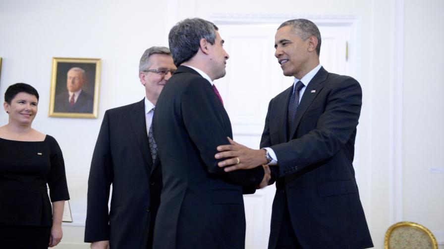 Държавният глава Росен Плевнелиев и президентът на САЩ Барак Обама