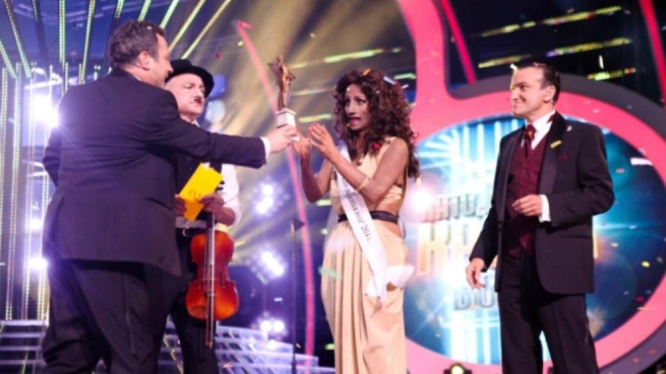 Невена в образа на британската певица Александра Бърк, който й донесе победата в шоуто