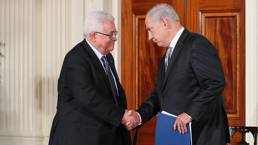 Абас и Нетаняху през септември 2010 г.