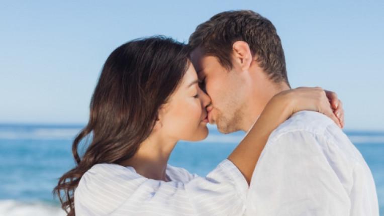 двойка щастие любов целувка