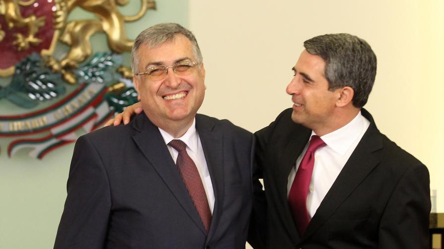 Служебният премиер проф. Георги Близнашки и президентът Росен Плевнелиев