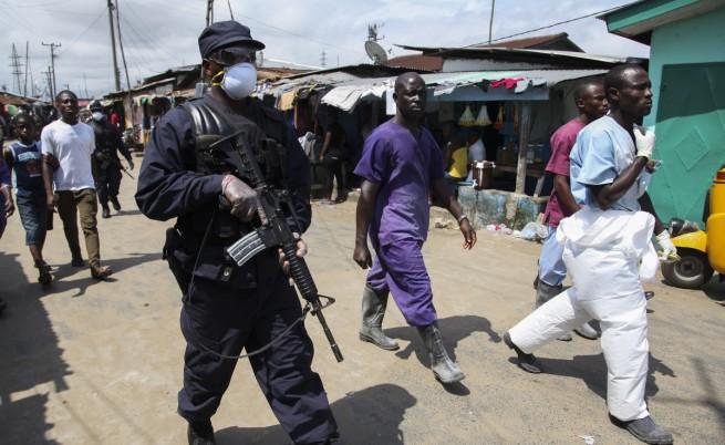 Либерия въведе полицейски час заради ебола