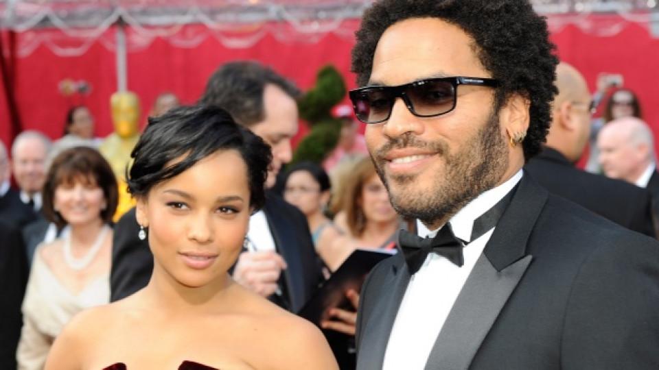 Лени и дъщеря му Зоу пристигат на церемонията по раздаването на наградите Оскар през 2010-та