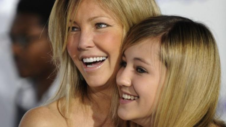 Хедър заедно с дъщеря си