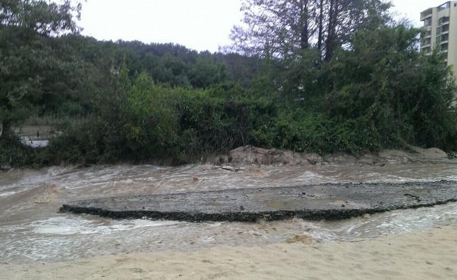 Скъса се дига на Марица край село в Димитровградско