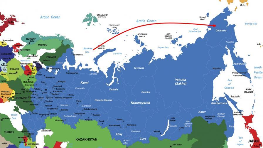 Руска ракета прелетя тестово от Баренцово море до Камчатка