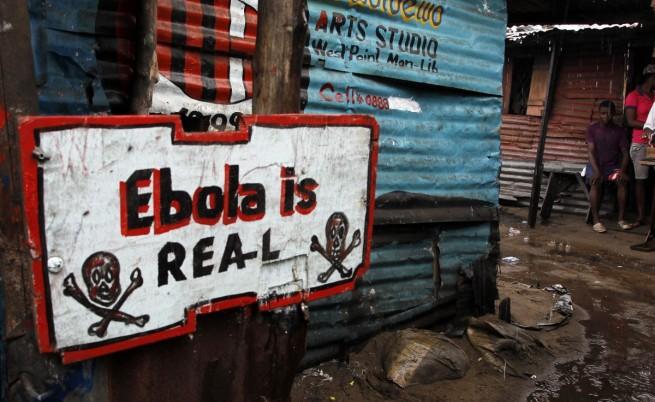 Предупредителен надпис в Либерия: Ебола е истинска