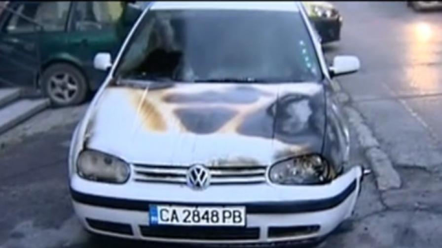 Подпалени коли заради строеж в столичен квартал