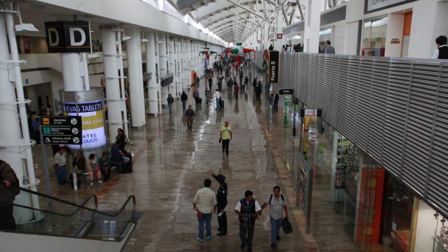 Горя летището в Мексико