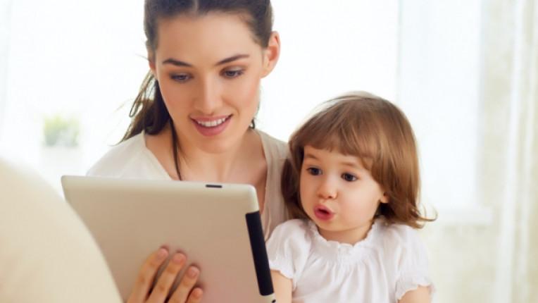 семейство интернет технологии дете деца компютър таблет