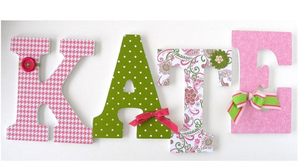 Как да си направите декорация с букви