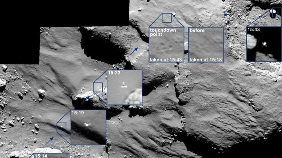 """""""Розета"""" е заснела подскока на """"Филe"""" върху кометата"""