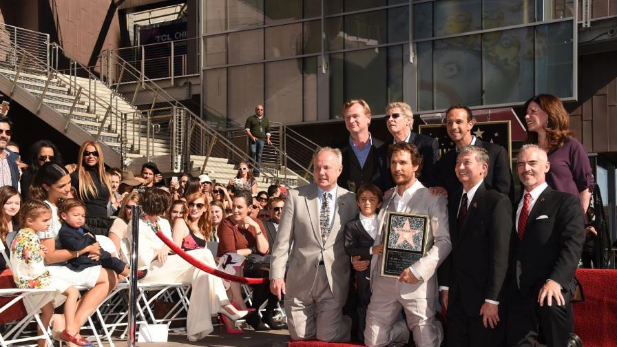 Матю Макконъхи изгря на Алеята на славата в Холивуд