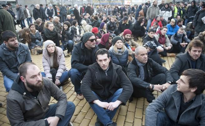 Протест срещу избора на Слави Бинев за шеф на комисията по култура и медии
