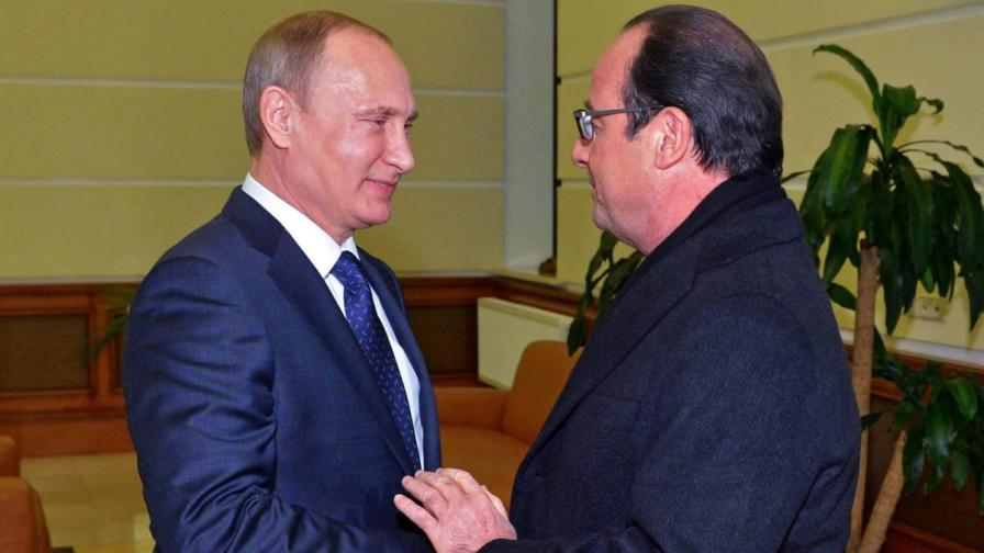 Путин и Оланд