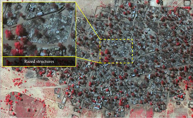 Сателитни снимки показват мащаба на клането в Нигерия