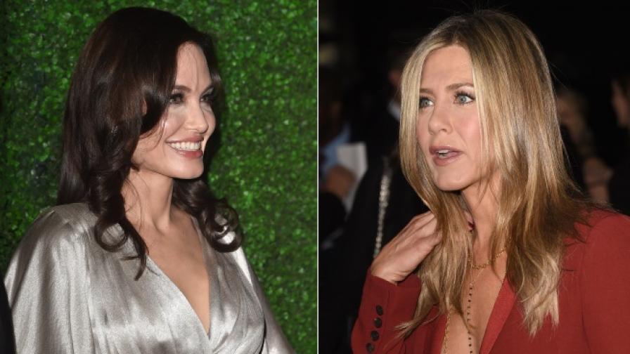 Анистън и Джоли за първи път на едно събитие след години