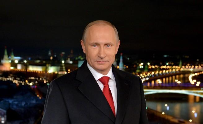 Путин по време на новогодишното обръщение към нацията