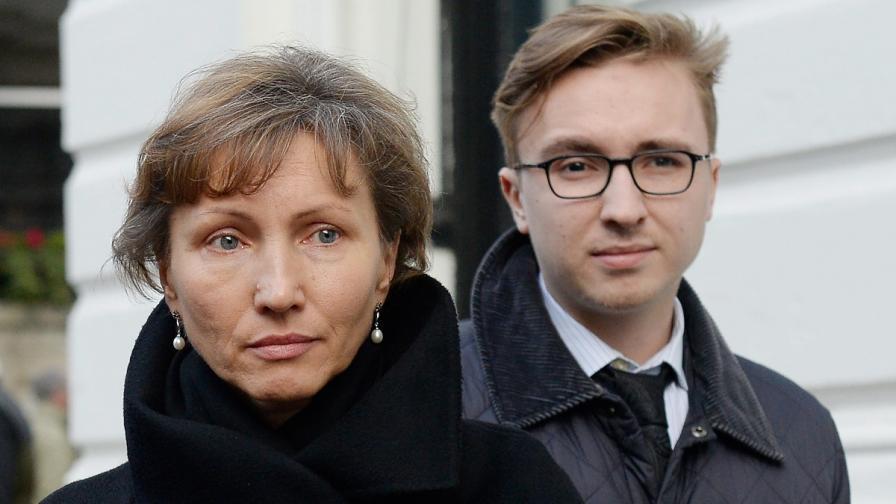 Вдовицата на Литвиненко – Марина, и синът им Анатолий