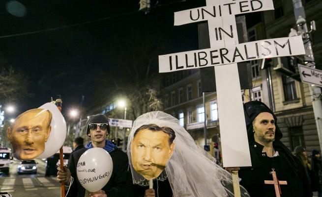 Преди посещението на Путин в Будапеща се състоя протест срещу визитата