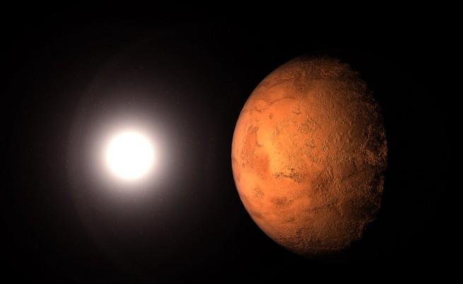 Покрити с прах ледници са открити на Марс