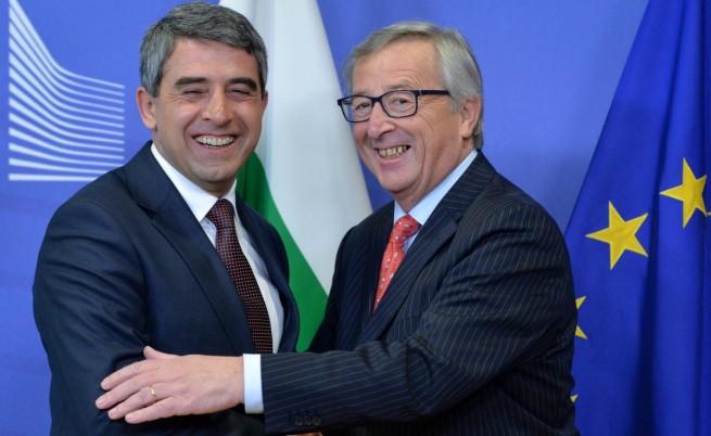 Президентът Росен Плевнелиев и председателят на ЕК Жан-Клод Юнкер