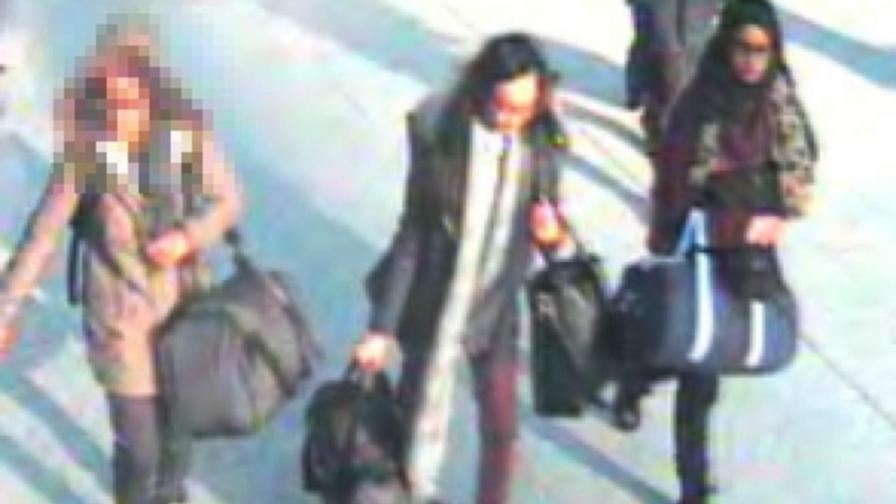 Трите британски ученички, които пътуват към Ислямска държава, за да се присъединят към бунтовниците