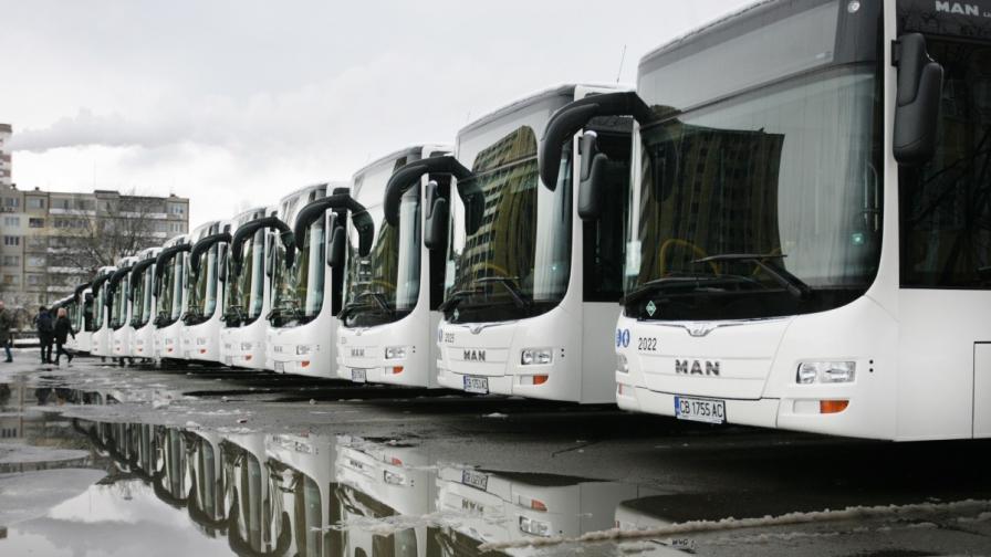 Бунт на шофьори остави част от София без автобуси