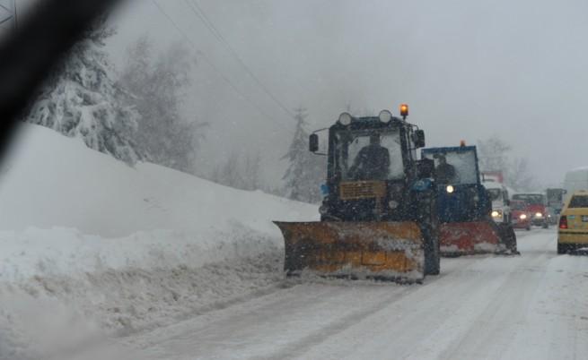 България е в снежен капан, Гълъбово отново бедства