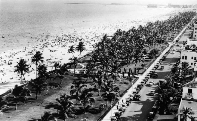 Снимка на Маями бийч от 1 януари 1935 г.